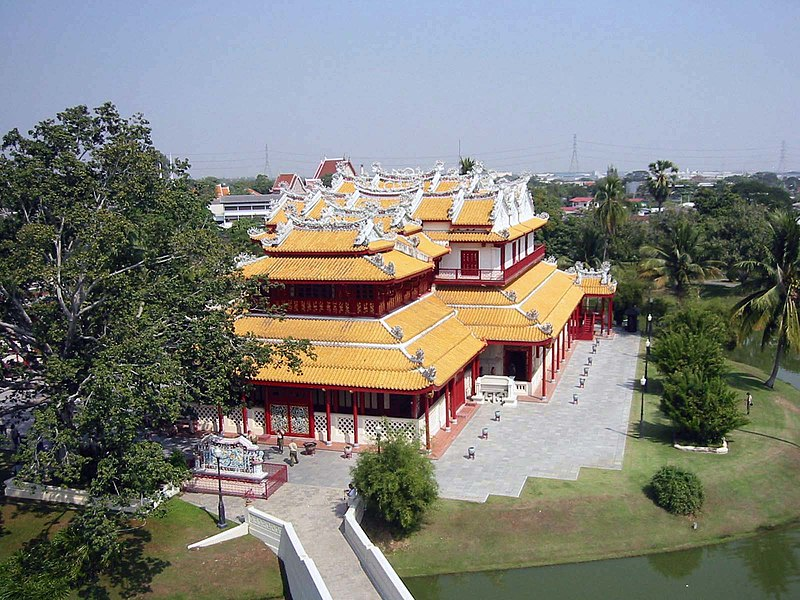 Bang Pa-In palace; palaces to visit in Thailand