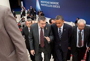 Essam Sharaf - Sharaf with President of the United States, Barack Obama