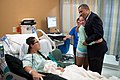 Barack Obama visiting victims of 2012 Aurora shooting.jpg
