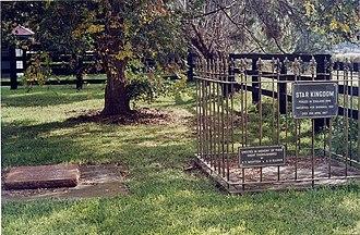 Todman - Headstones commemorating Todman and his sire, Star Kingdom at Baramul Stud.