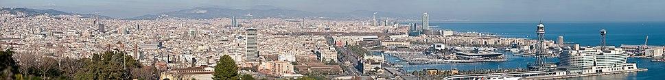 Barcelona Cityscape Panorama - Jan 2007 edit