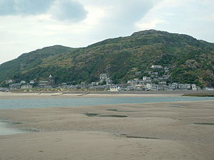 Barmouth across the River Mawddach estuary, Me...