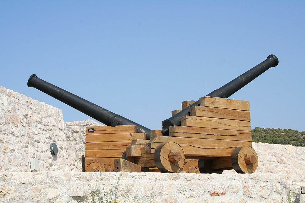 Barone Fortress in Šibenik, cannons