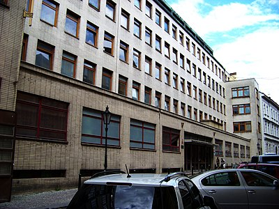 Antiga sede da StB na rua Bartolomějská em Praga.