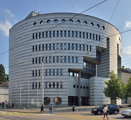 Global headquarters of the Bank for International Settlements in Basel Basel - Bottabau am Aeschenplatz1.jpg