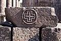 Basilica Complex, Qanawat (قنوات), Syria - Slab with cross in medallion - PHBZ024 2016 3565 - Dumbarton Oaks.jpg