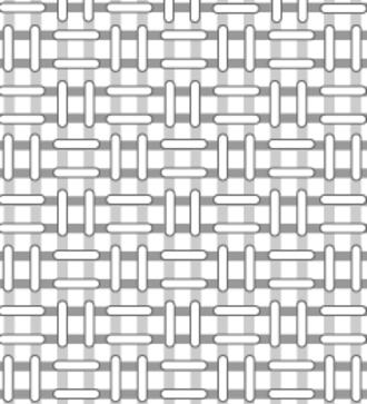 Basketweave (weaving) - Structure of basketweave fabric