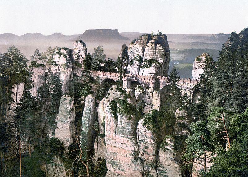 Datei:Bastei around 1900.jpg