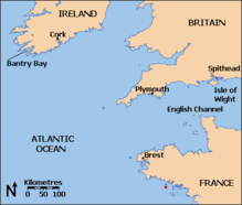 The island of Groix is near the French coast southeast of Brest.