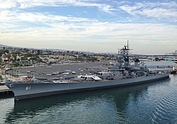 Battleship USS Iowa at the Port of Los Angeles