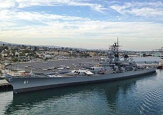 USS Iowa Museum - Image: Battleship USS Iowa at the Port of Los Angeles