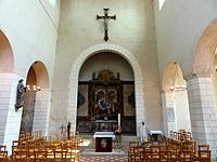 Beauvais (60), église Notre-Dame-de-la-Basse-Œuvre, nef, vue vers l'est 2.JPG