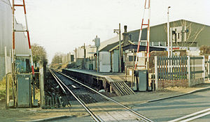 Beddington Lane railway station - View in 1983