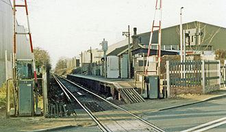 Beddington Lane railway station - View in 1983