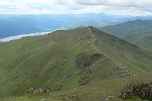 Beinn Ghlas - Beinn Ghlas from the western slopes of Ben Lawers