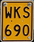 Belgian motorcycle plate 1965-2010 WKS-690.jpg