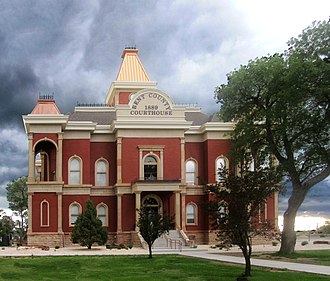 Bent County Courthouse and Jail - Image: Bent County, CO, Courthouse IMG 5719