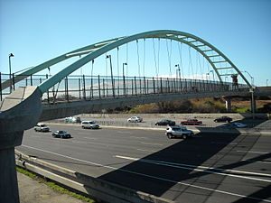 Berkeley I-80 bridge - View of the bridge looking east