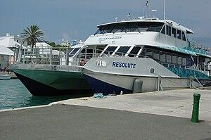 Transport in Bermuda - Ferry boat at the Dockyard