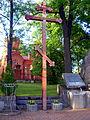 Białowieża - krzyż wieczny odpoczynek ofiarom wojny.JPG