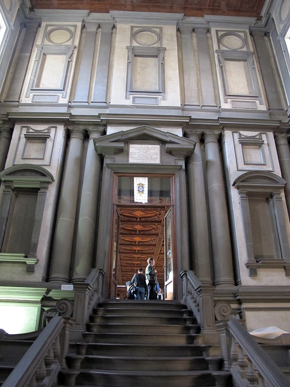 Biblioteca laurenziana, vestibolo 04
