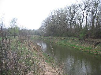 Fonda, Iowa - Big Cedar Creek, running behind OLGC Catholic Church on the west side of town.