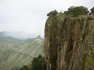Chisos Mountains - Image: Big Bend South Rim 2008b