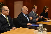 Bilateral Meeting with HRH Prince Al Hassan-Bin-Talal (01116590) (37342120495).jpg