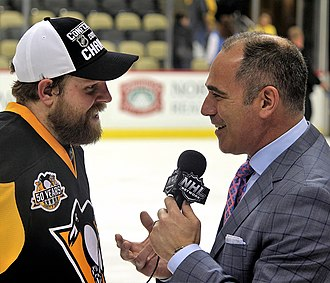 Phil Kessel - Kessel being interviewed by Billy Jaffe shortly after winning the 2017 Eastern Conference Finals with the Pittsburgh Penguins.