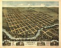 Bird's-eye view of Ottawa, the largest city of its age in Kansas, 1872 - looking south-west LOC 99443775.jpg