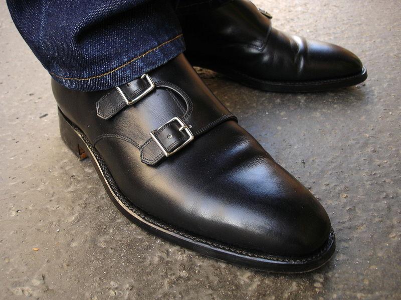 Black Monk Strap Shoes With Black Jeans