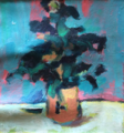 Black leaves in crockware (pink underpainting) by Christopher Willard.png