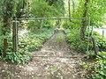 Blocked-off track along Trosnant Brook, Pontypool - geograph.org.uk - 2427786.jpg