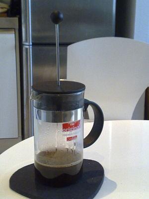 Bodum - Coffee brewing in a Bodum French press.