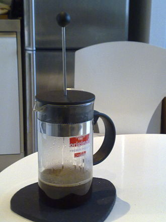 Bodum - Coffee brewing in a Bodum French press.