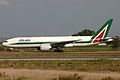 Boeing 777-243ER I-DISE Alitalia (6658295447).jpg