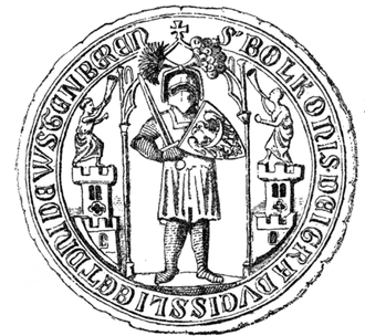 Bolko I the Strict - Bolko I's seal, dated to 1298