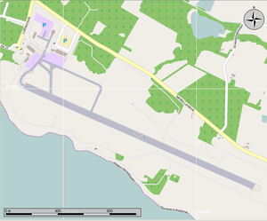 Bornholm Airport - Map of the airport