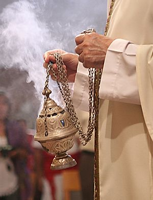 Censer - Catholic thurible or chain censer, designed for swinging