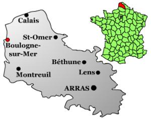 Eustace I, Count of Boulogne - Image: Boulogne sur Mer Position