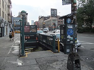 Bowery (BMT Nassau Street Line) - Entrance on Bowery and Delancey Street