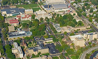 Bradley University - Bradley's 84 acre campus on Peoria's west bluff.