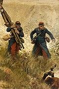 Brancardier et soldat de la ligne, fragment du panorama de La Bataille de Champigny.jpg