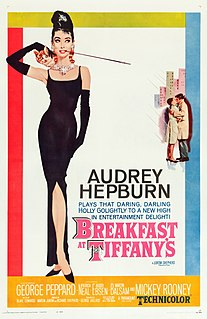 <i>Breakfast at Tiffanys</i> (film) 1961 romantic comedy movie directed by Blake Edwards