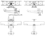 Breda A.4 3-view Le Document aéronautique May,1927.png