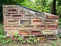 Brick plinth for notice board, Walbottle Community Orchard - geograph.org.uk - 1984583.jpg