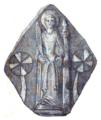 Brique vernissée XVe siècle — Sainte Barbe.png
