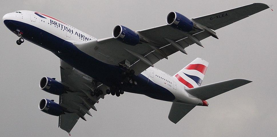 British Airways A380-841 G-XLEA (16948377692).jpg
