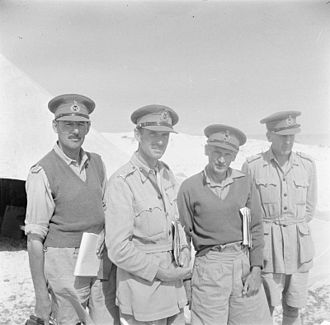 Brian Horrocks - Lieutenant-General Bernard Montgomery pictured in North Africa in late 1942 with his three corps commanders, from left to right: Lieutenant-General Sir Oliver Leese, GOC XXX Corps, Lieutenant-General Herbert Lumsden, GOC X Corps, Lieutenant-General Montgomery, Lieutenant-General Brian Horrocks, GOC XIII Corps