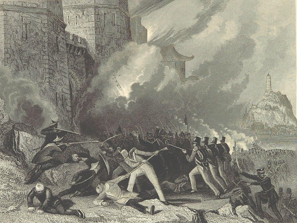 British troops capture Chin-Keang-Foo